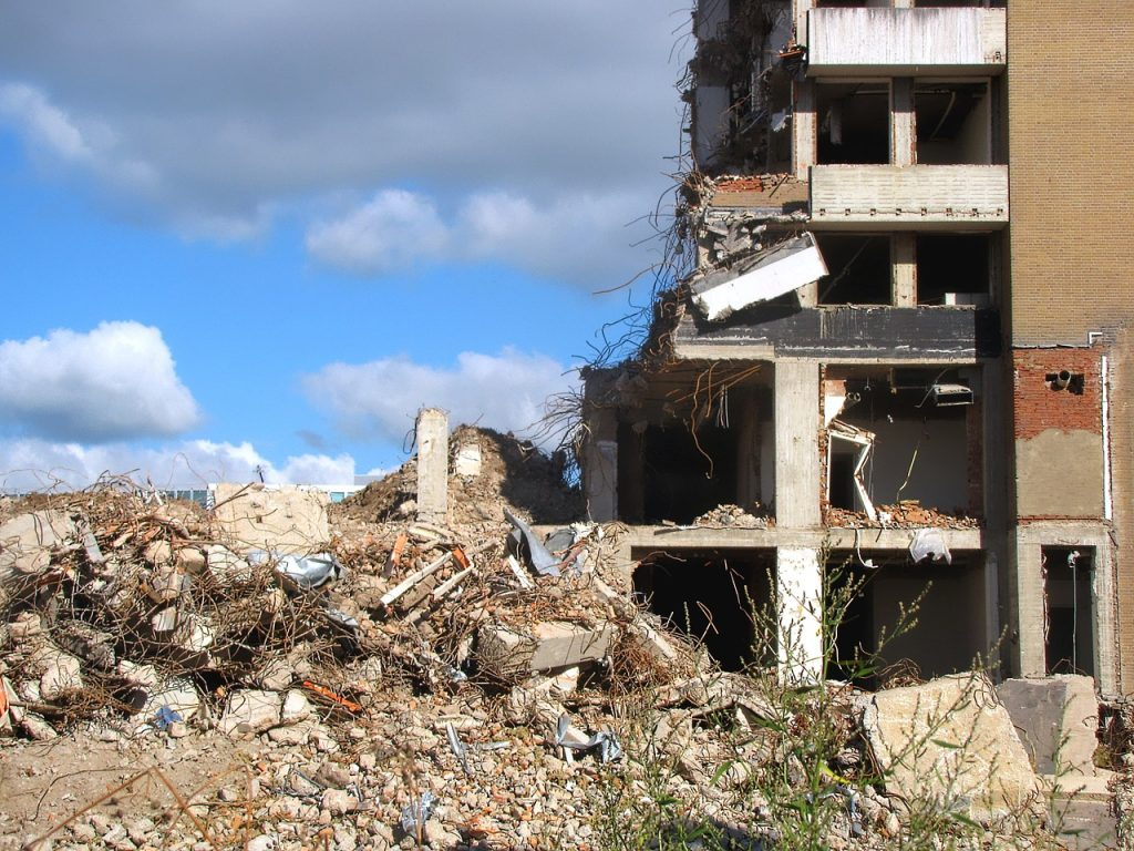 What does it mean to dream about demolition?